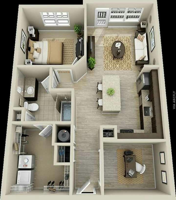 50 plans gratuit en dappartement et de maison avec 1 chambres