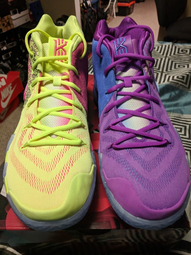 san francisco 64023 c3cb3 Kyrie 4 Confetti | Kicks On Fire | Running shoes, Shoes ...