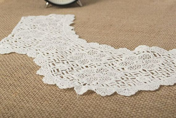 Photo of Items similar to Lace Trim,Lace Collar, Bride Wedding Appliq…