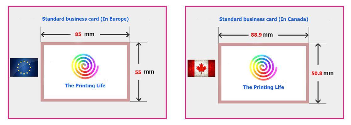 Us Geschäfts Karten Größe Cm Sowie Visitenkarten Größe Und