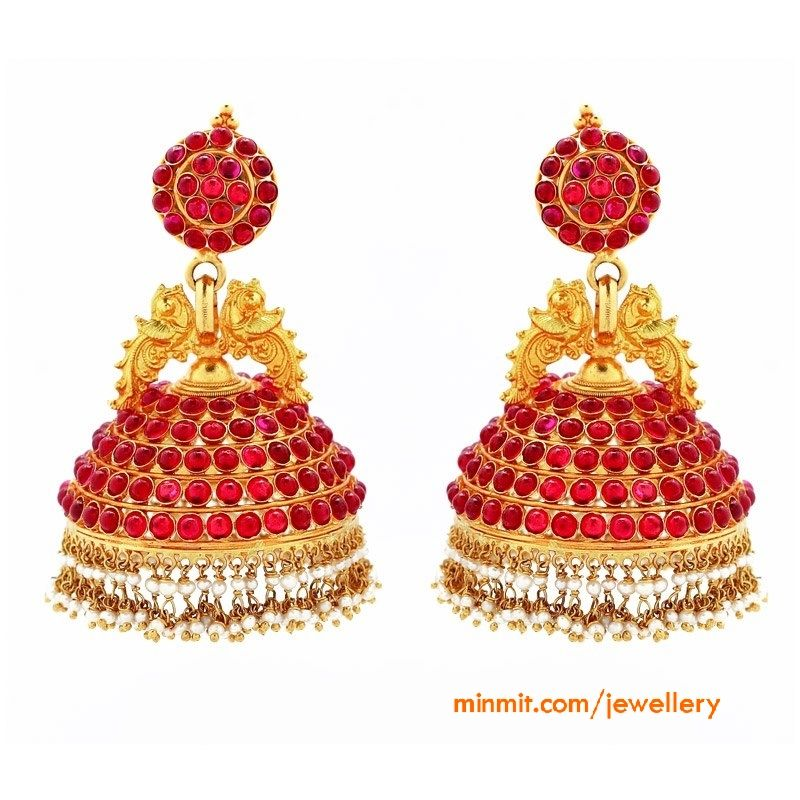 Ruby Jhumkas from GRT Jewellers More From Category Ruby Emerald