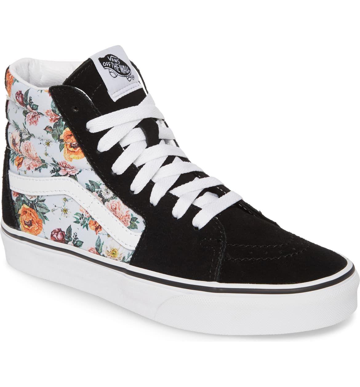 Vans Sk8-Hi Checker Floral High Top Sneaker (Women)   Nordstrom ...