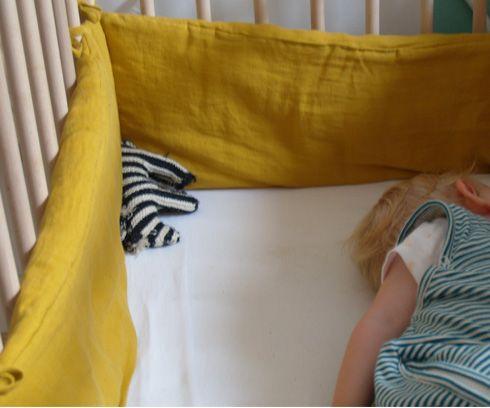 Baby Bed Beschermer.Lab Ledikant Beschermer Linnen Oker Boys Cribs Baby Boys