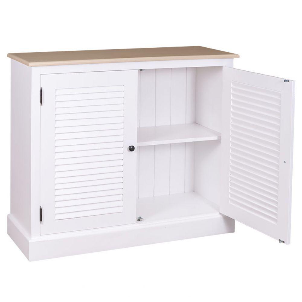 Kommode Weiß Mit Lammellentüren, Landhausstil, Einrichten, Wohnen,  Badezimmer, Wohnzimmer, Schlafzimmer