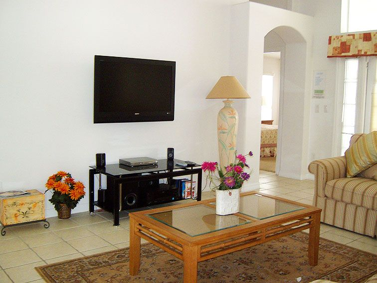 Indian Living Room With Traditional Wooden Furniture