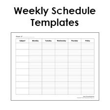 Printable Weekly Schedule Template  Free Blank Pdf  To Do List