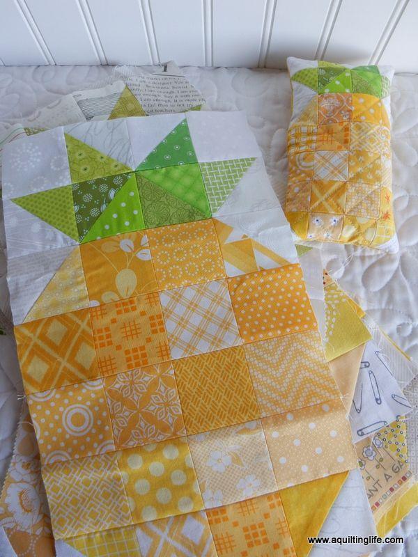More Pineapple Quilt Blocks
