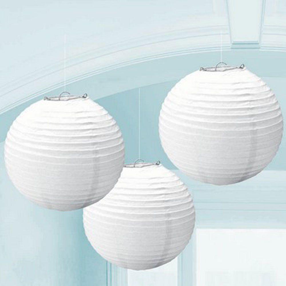 Generic GEN75465 12-Inch Paper Lantern Lamp Shades, White, 12-Pack ...