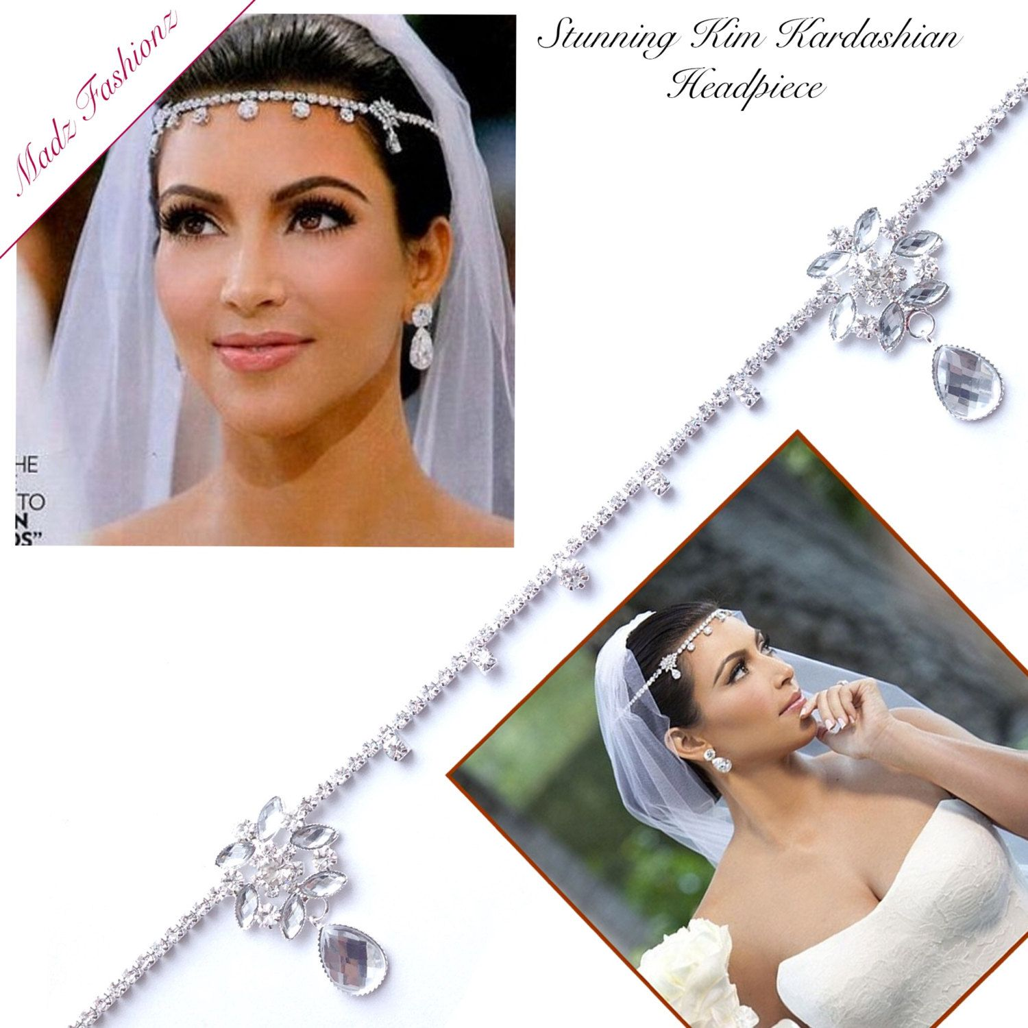 sale! kim kardashian hair jewelry kim inspired wedding bridal