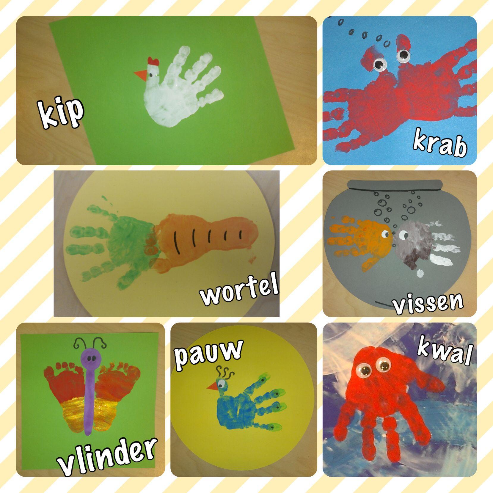 Magnifiek Creatief met handjes en voetjes | handafdruk verf | Pinterest #KC09