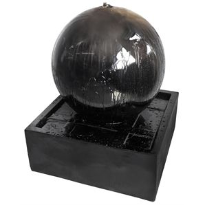 Water Magic Sphere Black Water Feature With Pump Bunnings