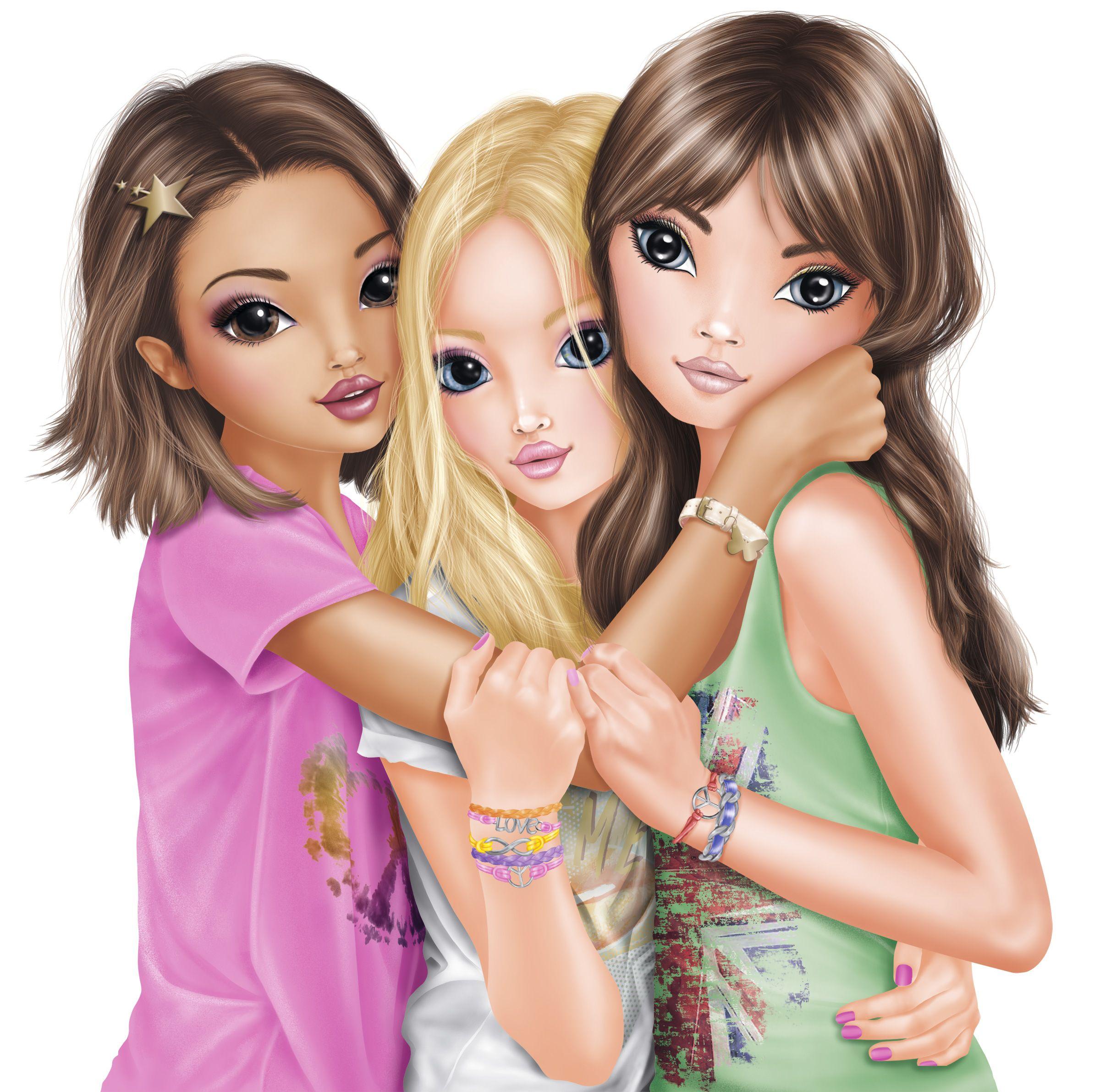 Картинки три мультяшные девочки