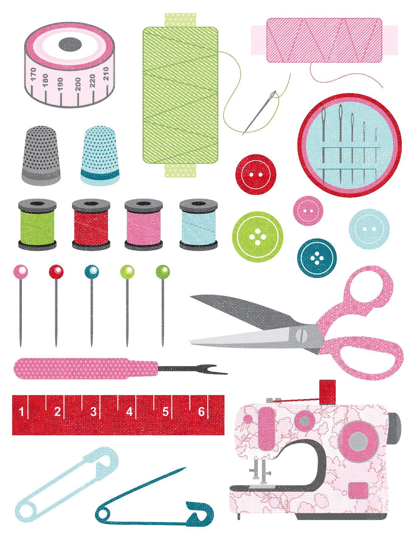 Sewing supplies printable   DIBUJOS   Pinterest   Costura ...