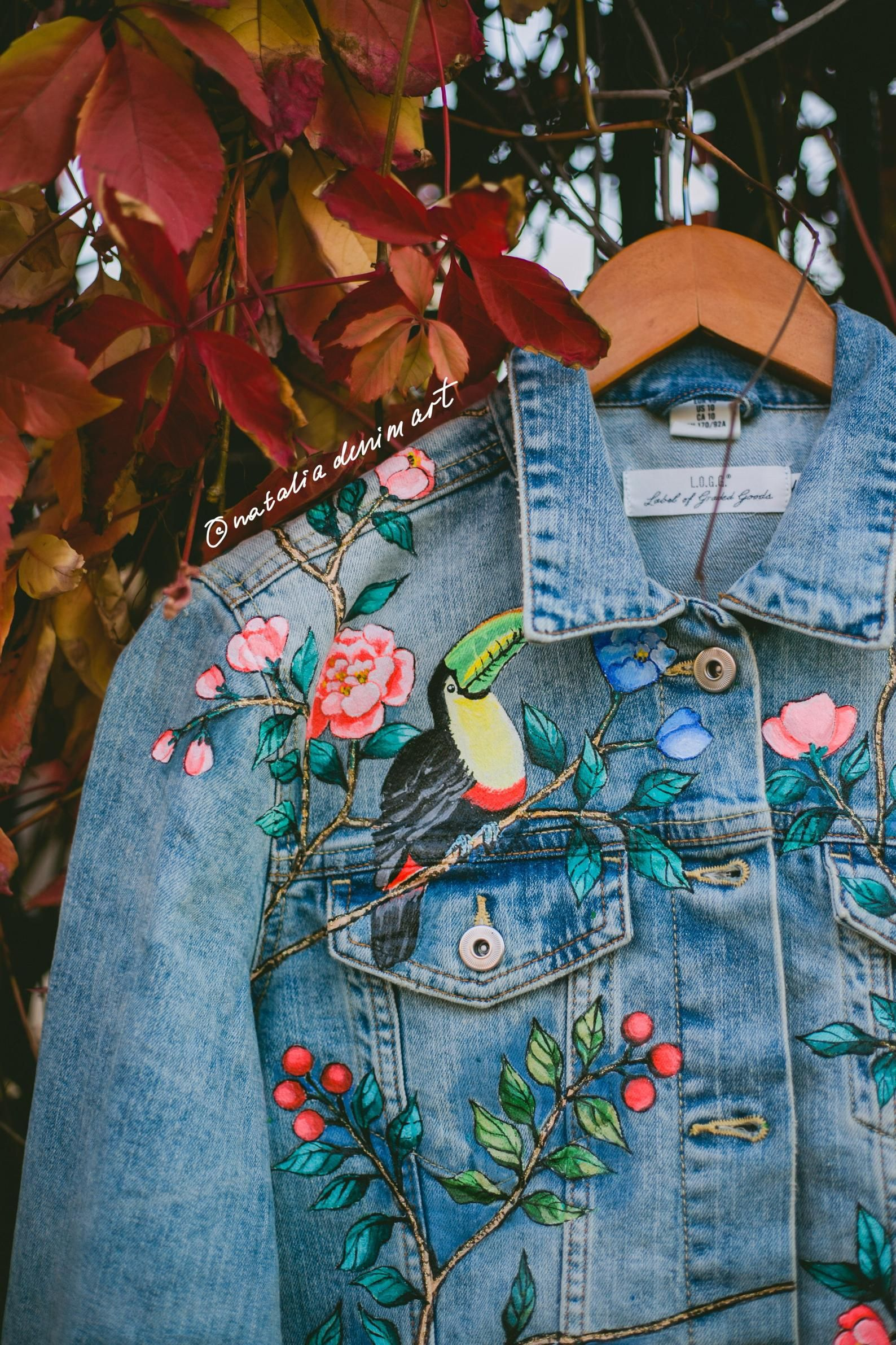 Customized Hand Painted Jean Jacket With Bird Rose Animals Etsy In 2020 Painted Jeans Painted Denim Hand Painted Denim Jacket [ 2382 x 1588 Pixel ]