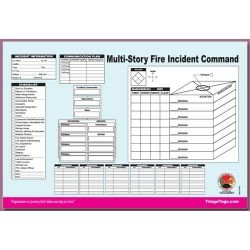 Dms 05563 Multi Story Structure Incident Command Worksheet Refill Pad This Ics Work Sheet Is Designed To Help Document Command Organizational Tool Worksheets