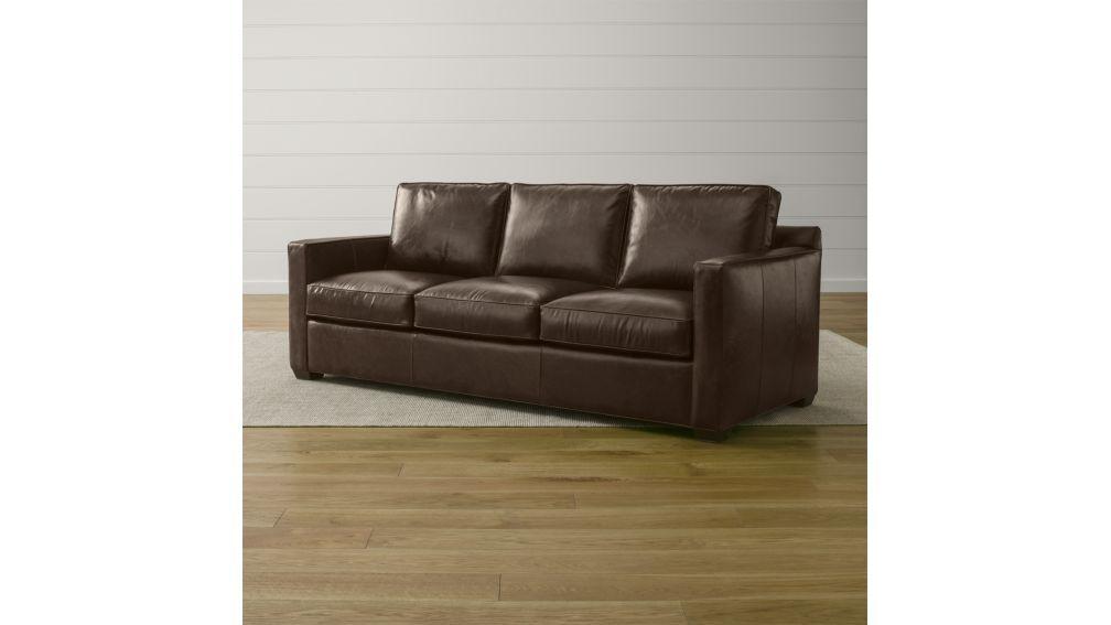 Davis Leather 3-Seat Sofa   Crate and Barrel