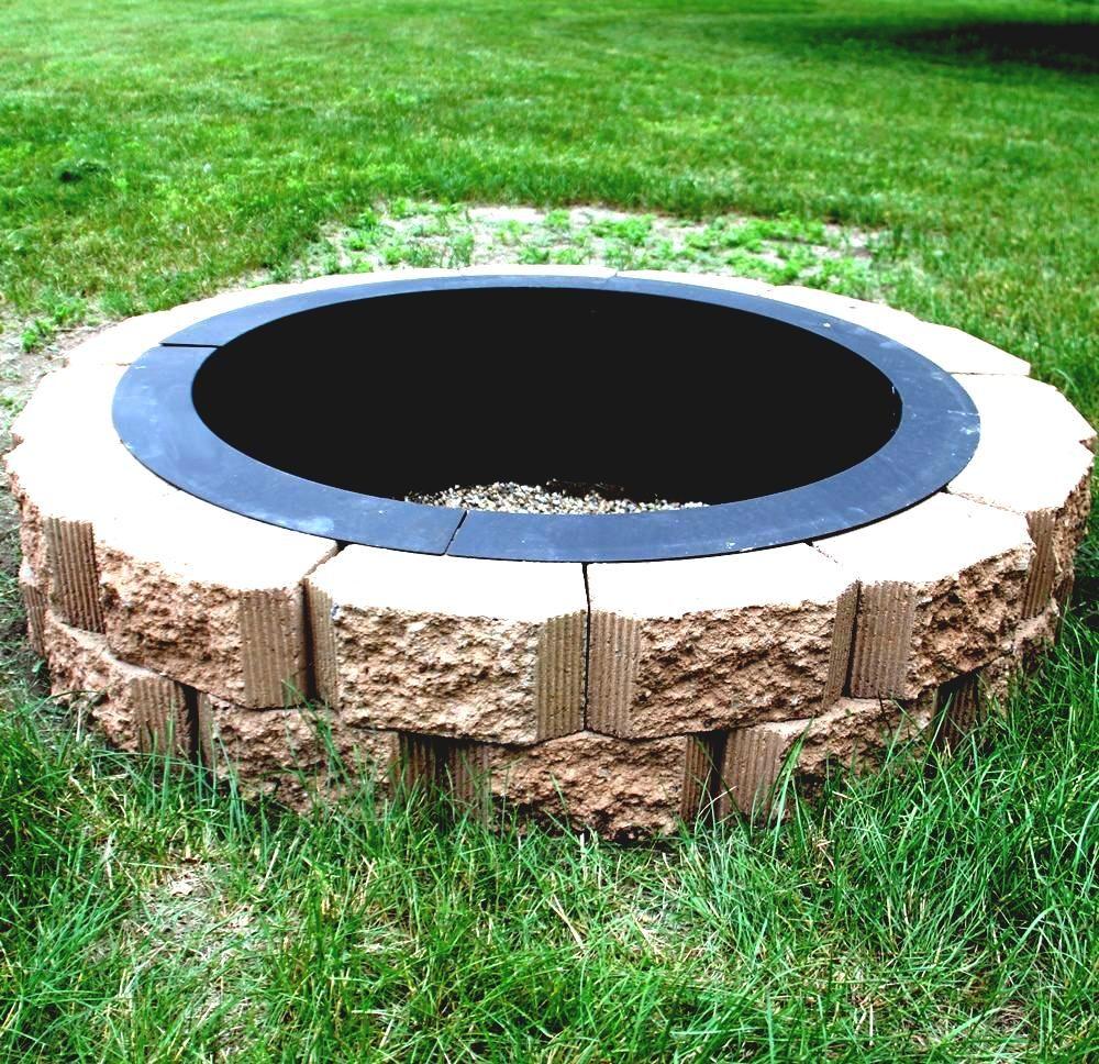 In Boden Feuerstelle Ideen Wie Man Ein Metall Ring Wash Eimer Stein Gartendeko Outdoor Decor Outdoor Home Decor