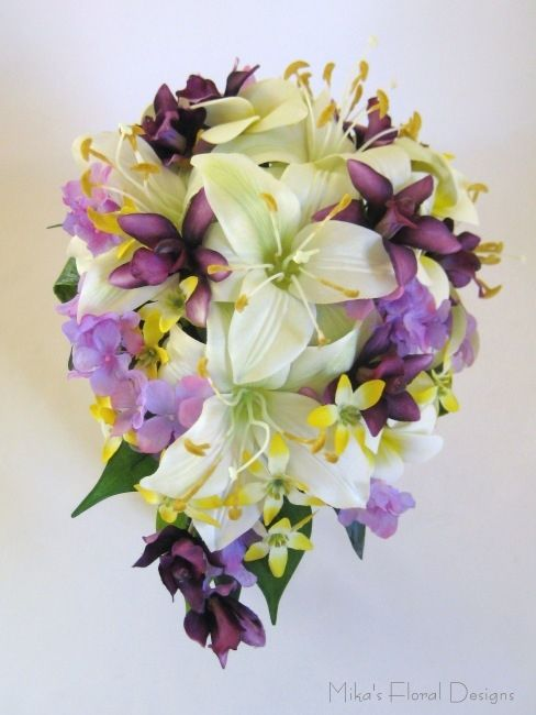Artificial Wedding Bouquets silk orchid bouquet Quality Silk Flowers ...