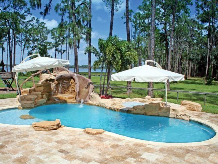 Im Garten können Sie eine beliebige Pool-Form gestalten | Haus ...