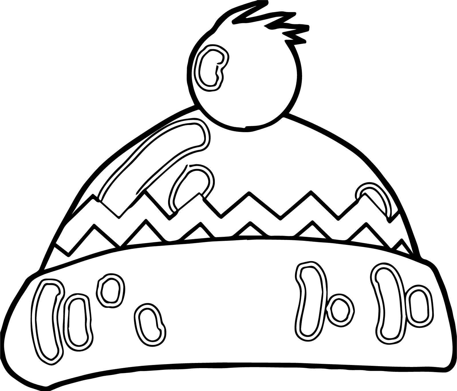 Winter cartoon hat coloring page wecoloringpage coloring pages