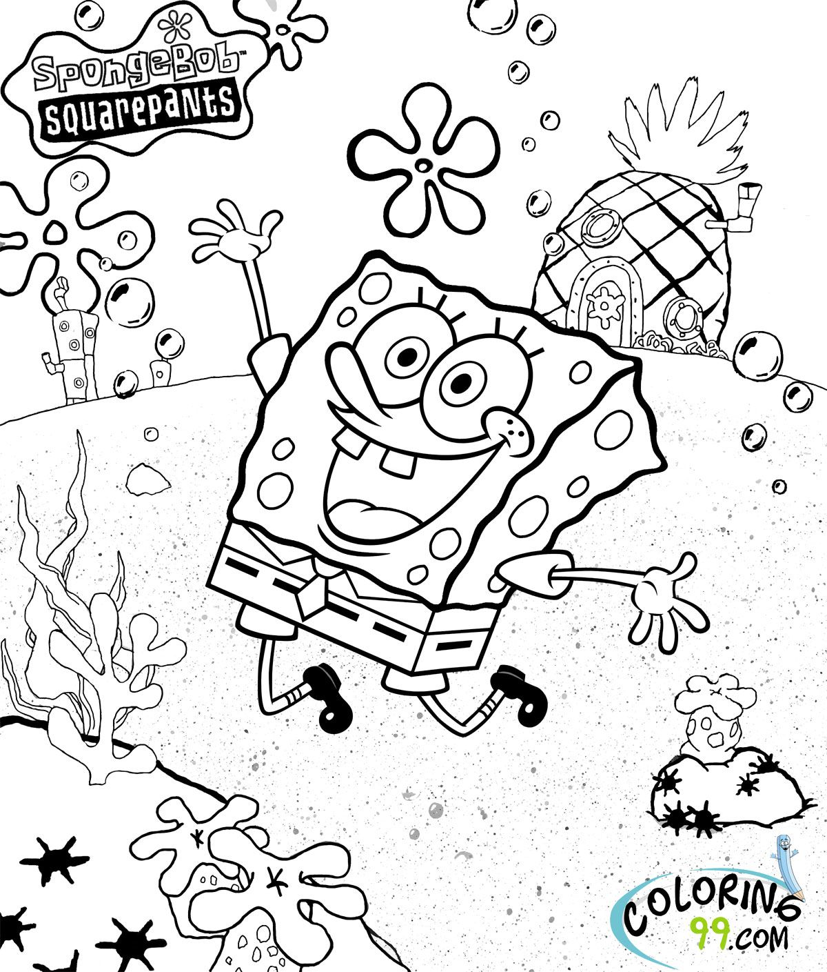 coloring pages for kids spongebob patrick spongebob coloring
