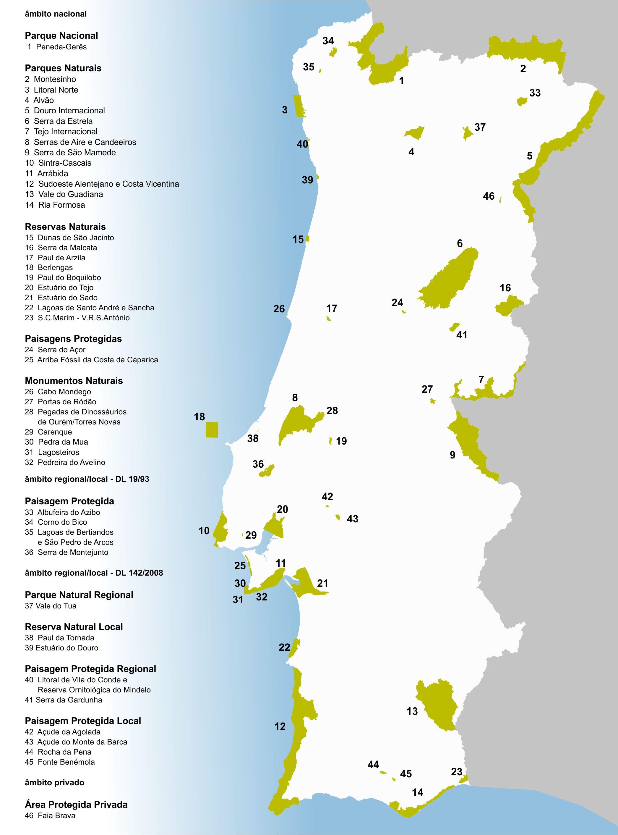 mapa das areas protegidas de portugal mapa_APs. | coisas da escola | Pinterest | Escola e Animais mapa das areas protegidas de portugal