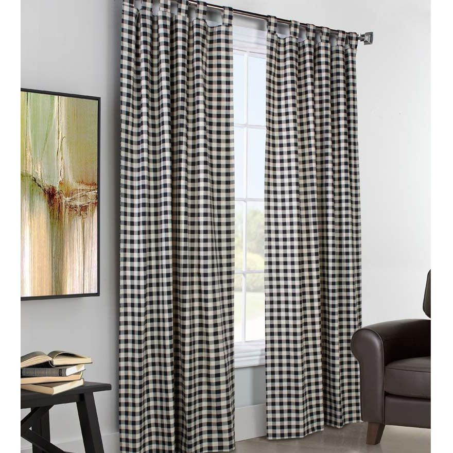 Customer Image Zoomed Panel Curtains Wide Curtains Check Curtains