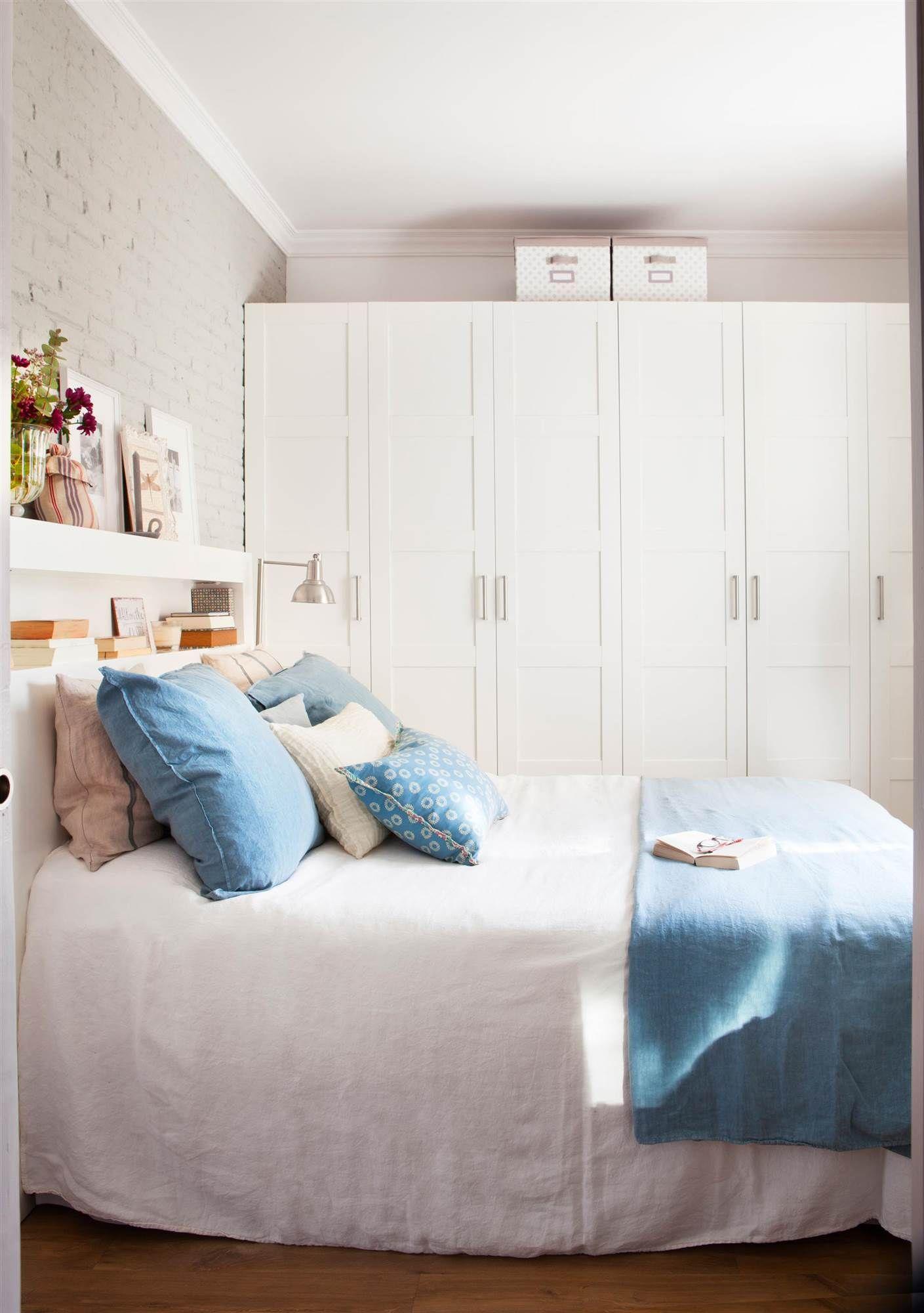 Armario cuadricula blanca ikea 00429039 habitaciones for Dormitorio ikea blanco