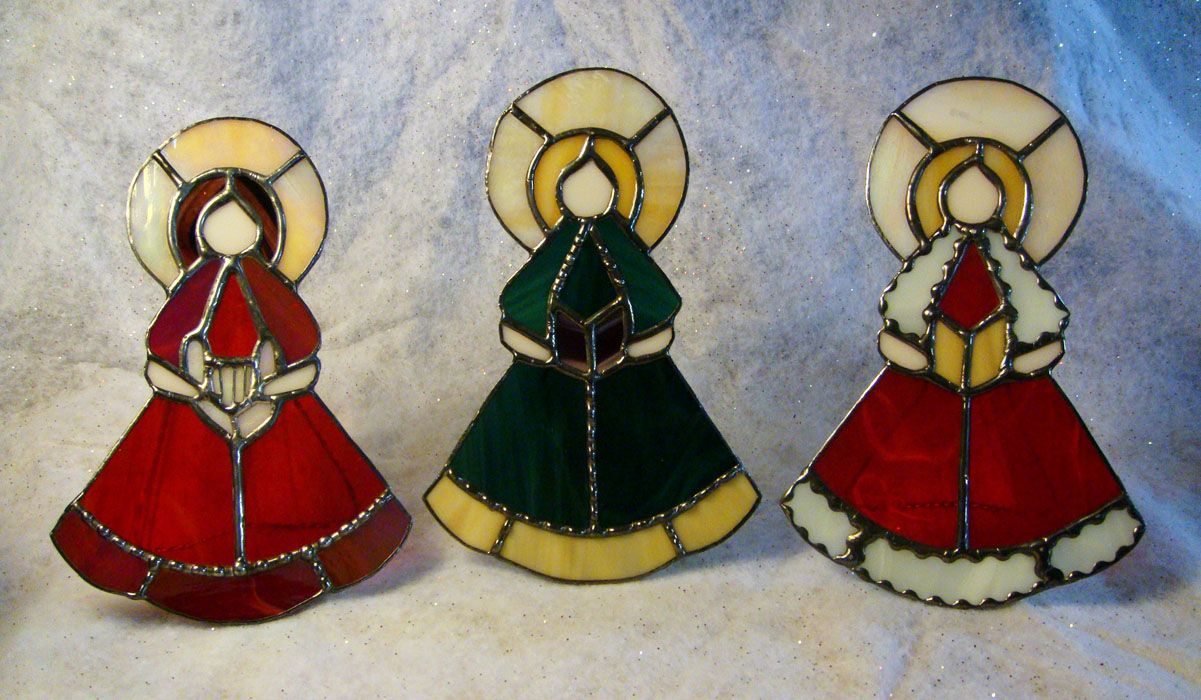 Stained Glass Christmas Ornament Patterns.Victorian Stained Glass Patterns Angels Free Pattern