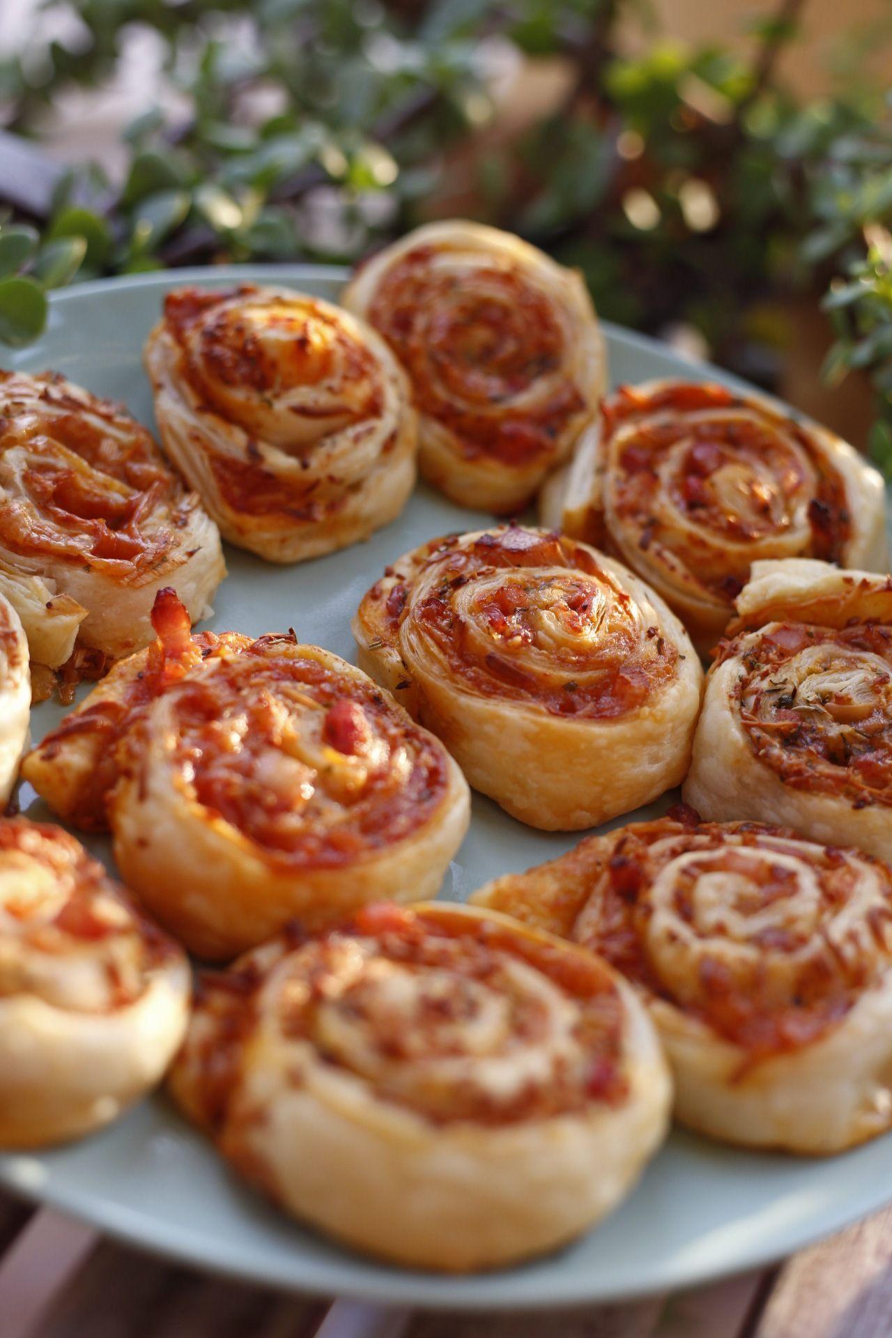 Pizzaschnecken mit Bacon – Patisserie