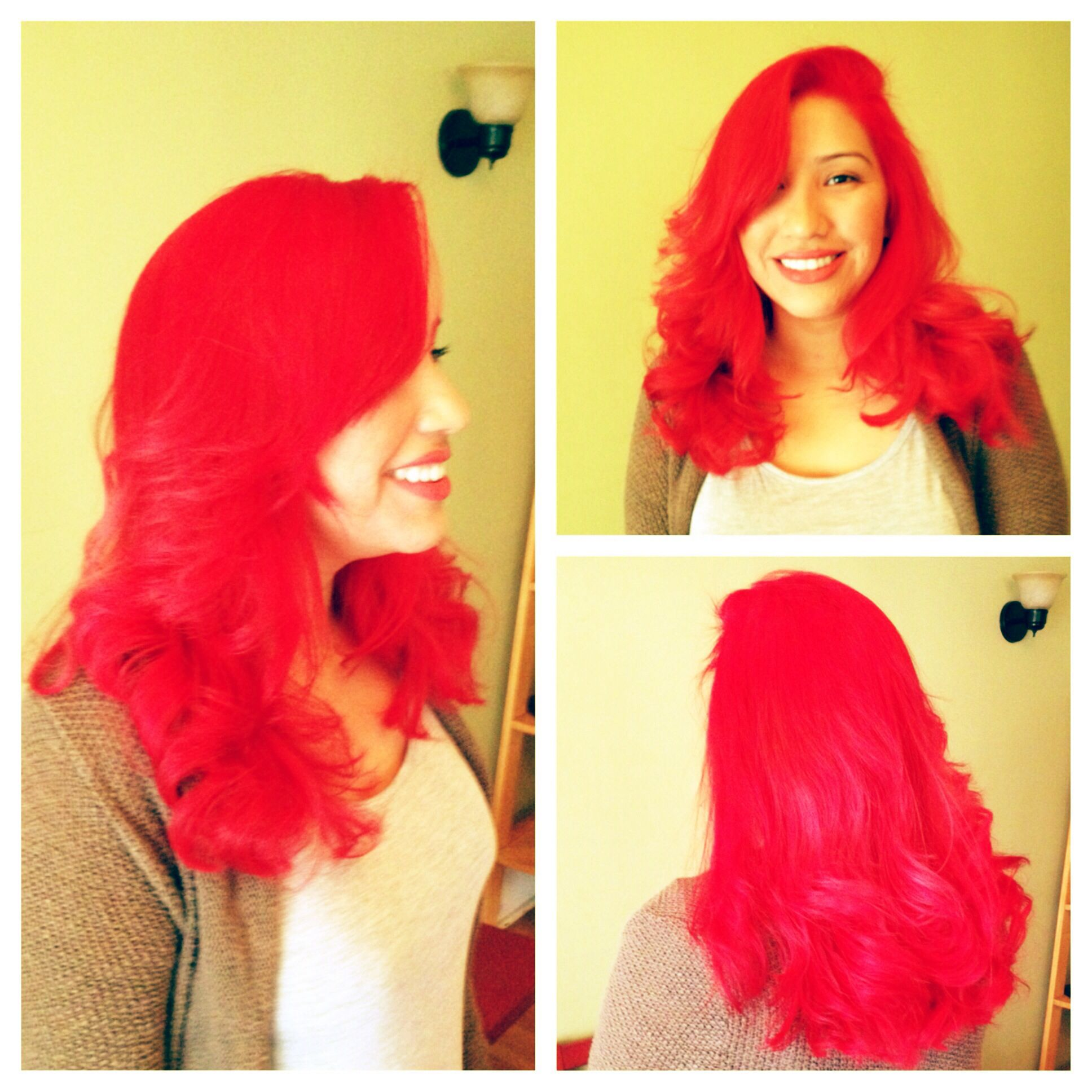 Red Hair Color & Style Dyed