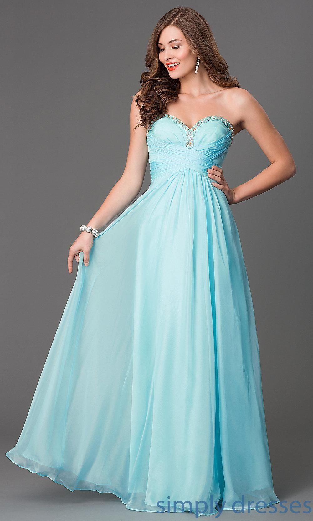Long Mint Strapless Prom Dress - Brought to you by Avarsha.com ...