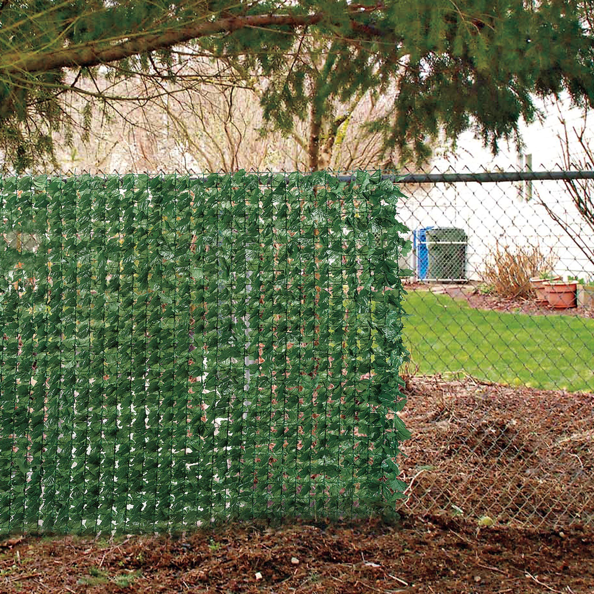 Amazon faux ivy privacy screen outdoor decorative fences