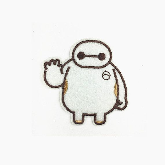 """Large 6/"""" Big Hero 6 Iron On Patch Embroidered Applique Sew//Iron on T-shirt//bag"""