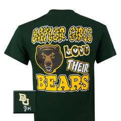 New Texas Baylor Girls Love Their Bears Girlie Bright T Shirt   SimplyCuteTees