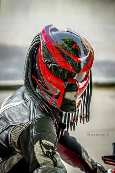 Predator Helmet Street Fighter For Bikers Dot Approved Free
