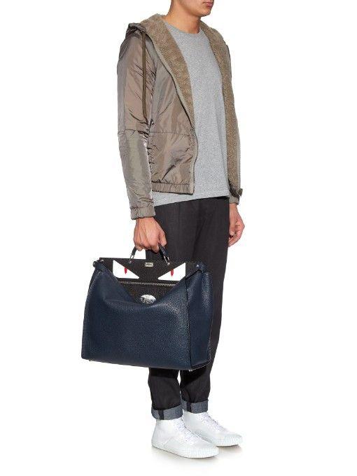 Fendi Selleria Peekaboo leather tote  79a92eee5936e