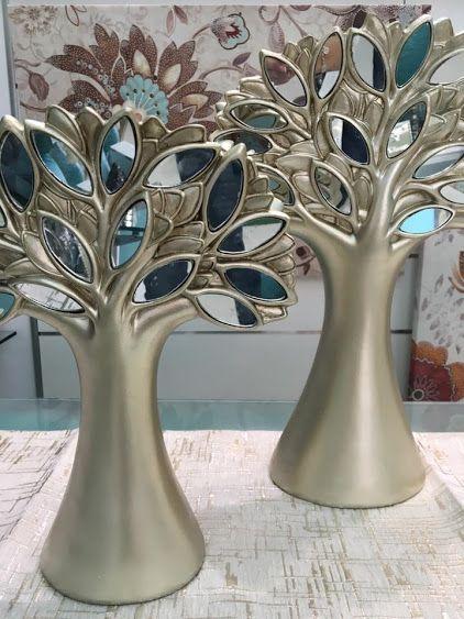 nueva coleccion de elementos decorativos en tonos champan y cristal en www.virginia-esber.es