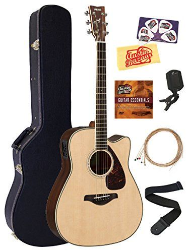 Yamaha Fgx830c Acoustic Electric Guitar Bundle With Hard Case Tuner Strap Strings Austin Ba Acoustic Electric Guitar Acoustic Electric Best Acoustic Guitar