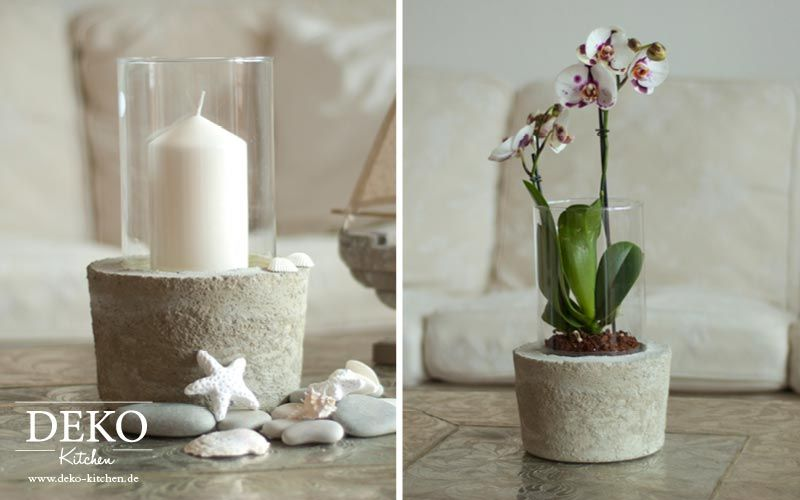 diy coole deko vase mit betonsockel deko kitchen deko vasen vasen und deko. Black Bedroom Furniture Sets. Home Design Ideas