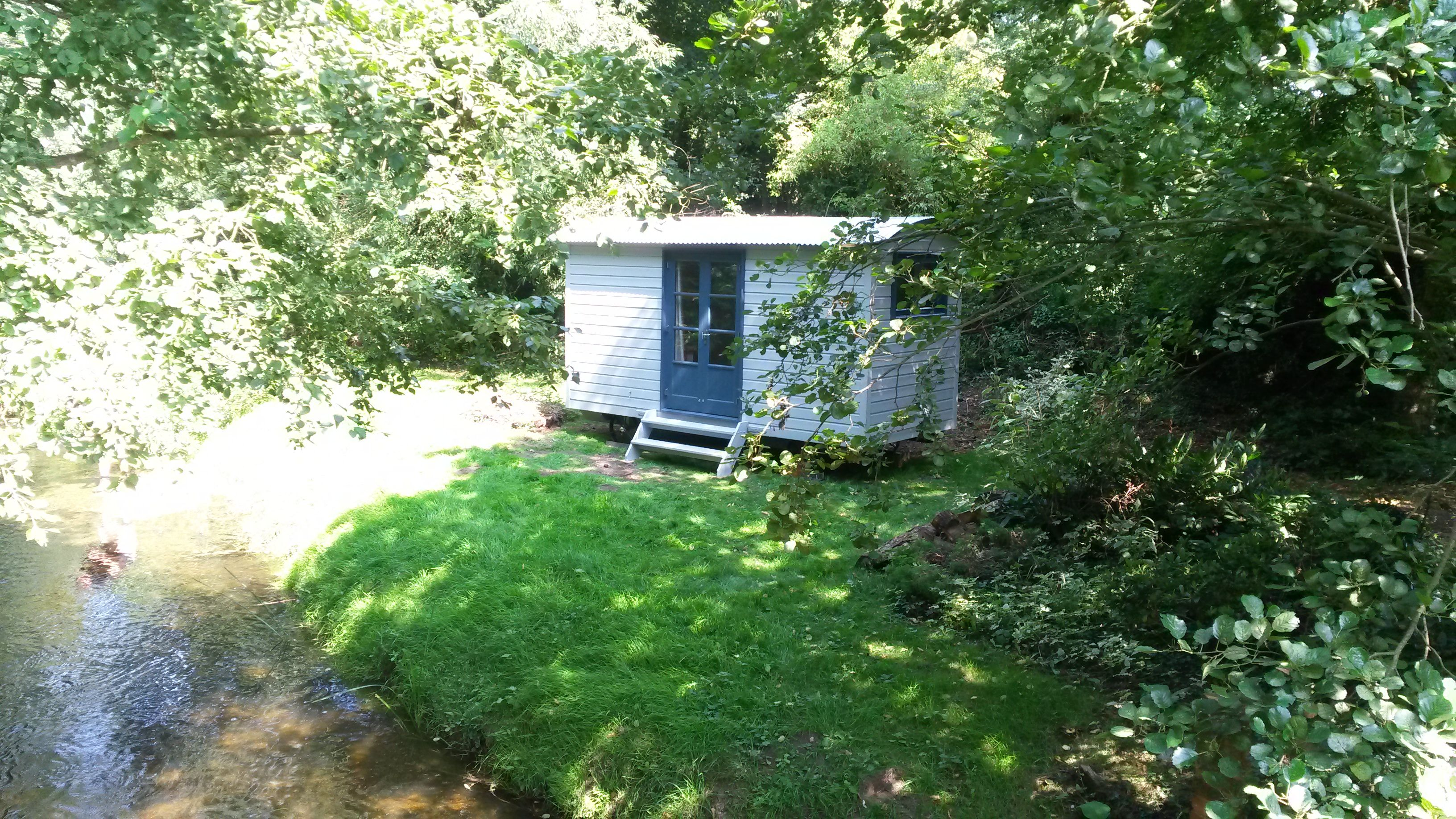 Shepherds Hut by the lakeside
