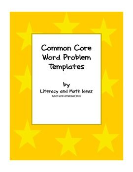 Free Common Core word problem templates.