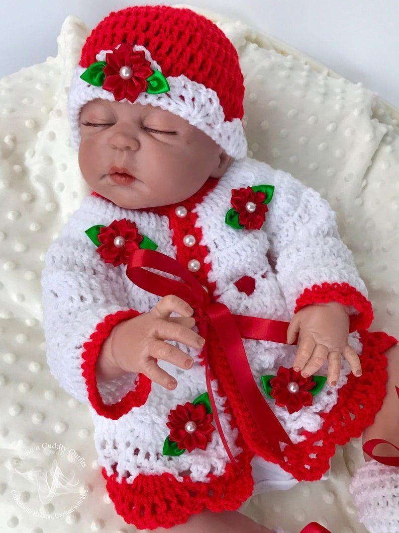 Flower baby dress Crochet baby dress Baby shower gift Baby dress Baby dresses Baby Christmas dress Newborn dress Coming Home Outfit
