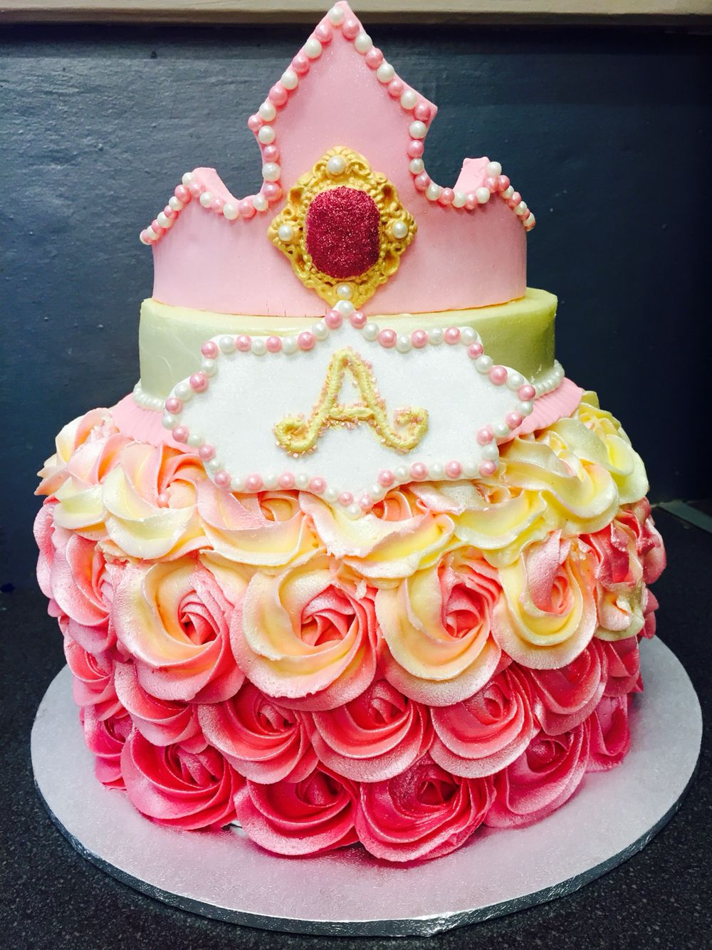 Very pink princess cake