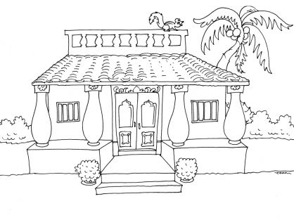 Coloriage Maison 23 tipos de vivienda Pinterest - dessin de maison a imprimer