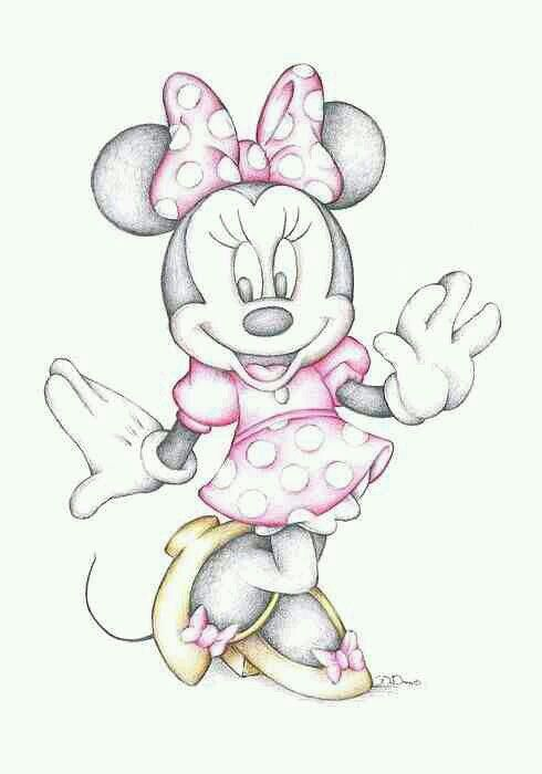 a4f3d43cc68 disney, drawing, and minnie mouse image | cartoon drawings | Disney ...