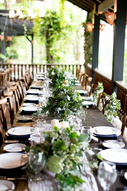 Navy Blue Gold White Organic Wedding At Hacienda Siesta Alegre