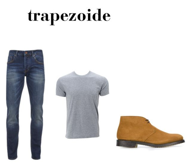 trapezoide by alcarazmelissa on Polyvore featuring Scotch & Soda, Church's, men's fashion and menswear