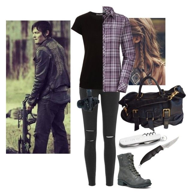 """""""TWD~Daryl Dixion"""" by xxabbeybearxx ❤ liked on Polyvore featuring Cobb Hill, Paige Denim, Vince, The North Face, Crate and Barrel and Botkier"""