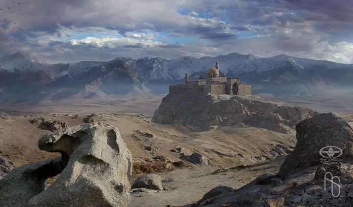 Matte painting, Keeper by aaronsimscompany on DeviantArt